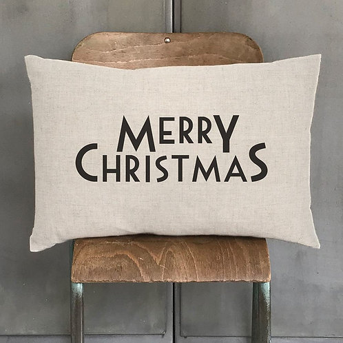 East of india 'merry christmas' christmas cushion