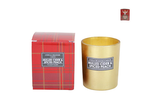 Gisela Graham Mulled Cider & Spiced Peach Scented Candle (small)