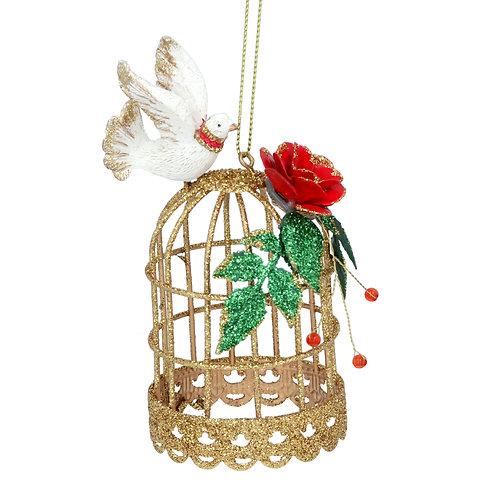 Gisela Graham Golden Cage Christmas Decoration