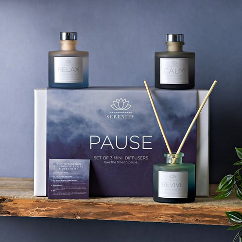 Serenity pause set of 3 diffusers 50ml