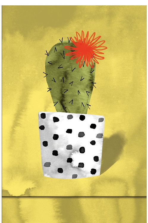 Roger la borde yellow cacti magnetic notebook