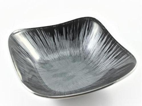 Azeti recycled aluminium small grey square bowl