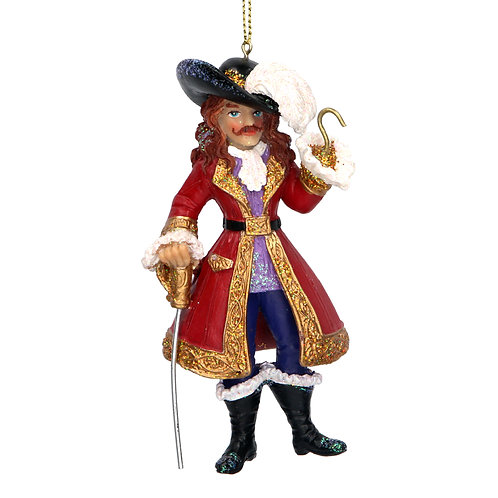 Gisela Graham Captain Hook Christmas Decoration