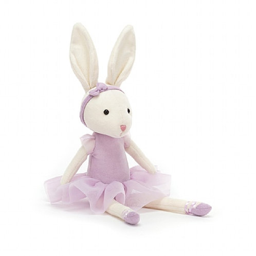 Jellycat pirouette bunny cuddly toyin lilac