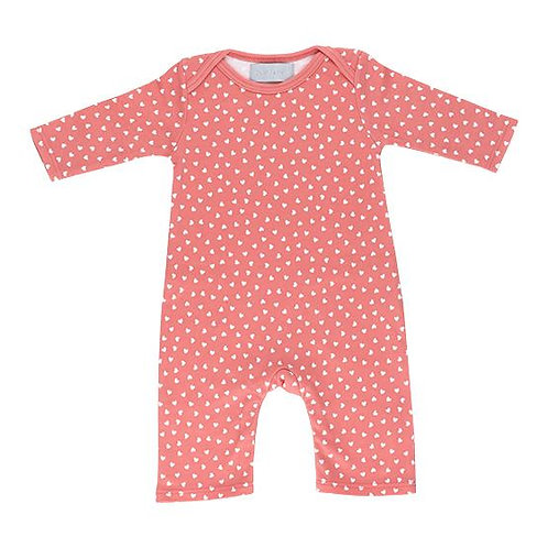 Bob and blossom flamingo pink with little white hearts all-in-one