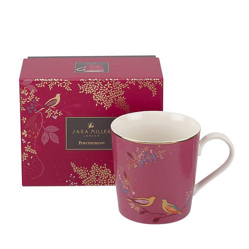 Sara Miller Portmeirion Pink Bird Mug