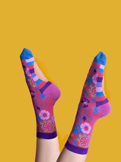 Powder Scandu Floral Tango Bamboo Socks