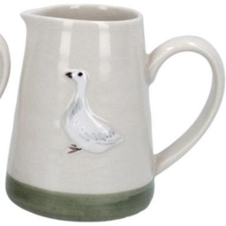 Gisela Graham mini ceramic goose jug