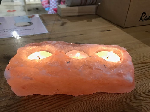 Himilayan Pink Salt lamp 3x tealight holder