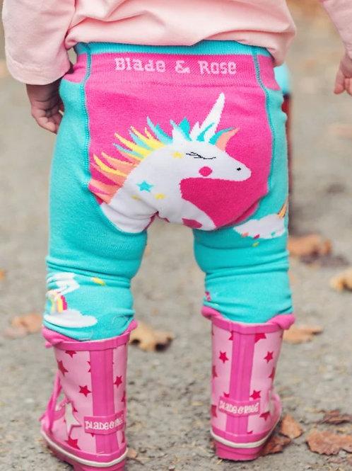 Blade and rose flying unicorn leggings
