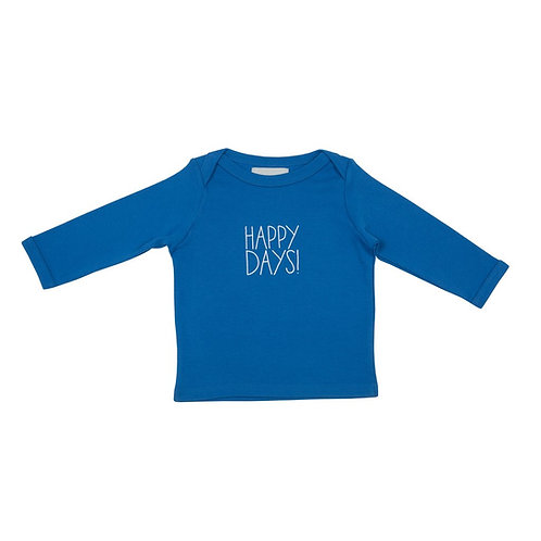 Bob and blossom 'happy days' ink blue baby t-shirt