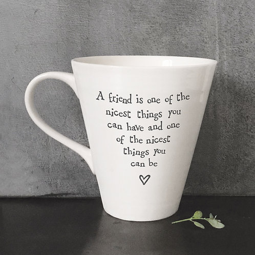 East of india 'a friend is one of the nicest things' porcelain boxed mug