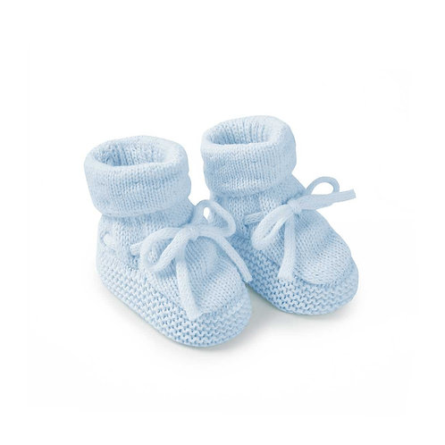 Katie loxton knitted baby boots in blue