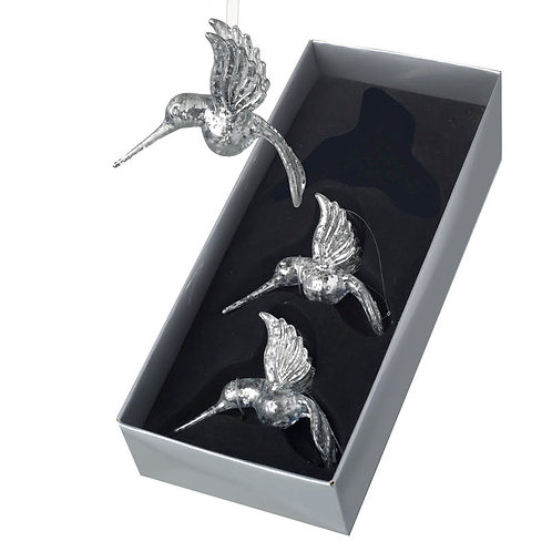Heaven Sends Silver Humming Bird Chistmas Decoration (sold as single)