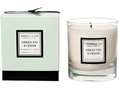Stoneglow Green Fig & Cedar Scented Candle