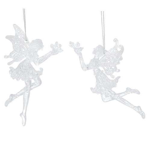 Gisela Graham Glass Fairy Christmas Decoration