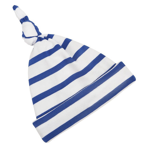 Bob and blossom french blue and white breton striped hat