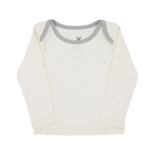 Lily and mortimer long sleeve tshirt whisper white stars