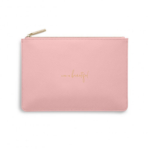 Katie Loxton Quote Pouch 'life is beautiful'