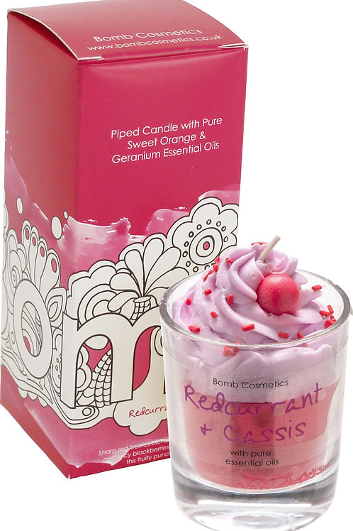 Bomb cosmetics redcurrant and cassis piped candle