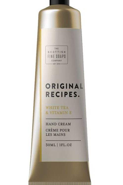 Scottish fine soap company white tea and vitamin e hand cream 30ml