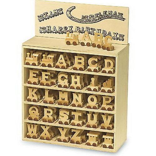 Legler wooden letter train