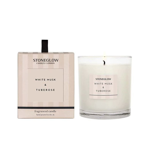Stoneglow white musk and tuberose Scented Candle
