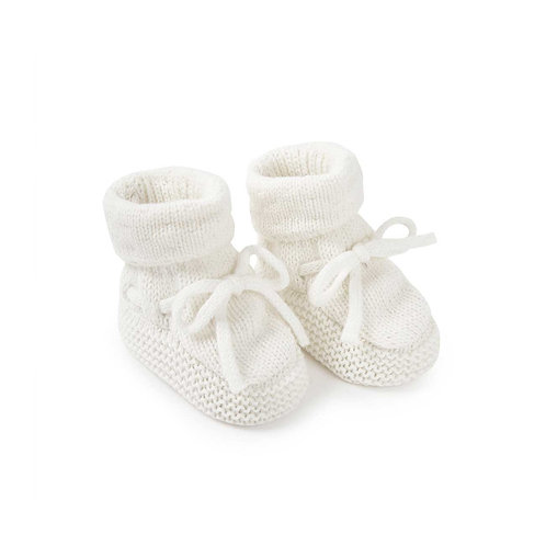 Katie loxton knitted baby boots in white