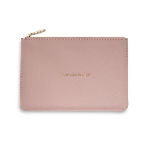Katie Loxton Quote Pouch ' champagne please!'