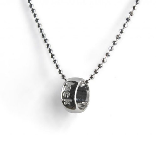 Tales from the earth 'luck' circle sterling silver necklace