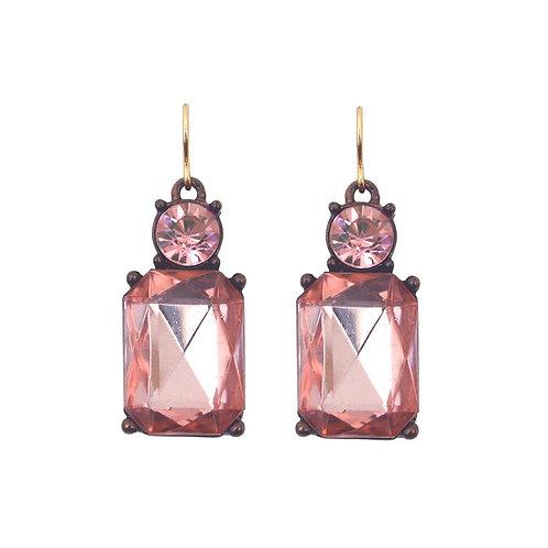 Last true angel gem with crystal earrings