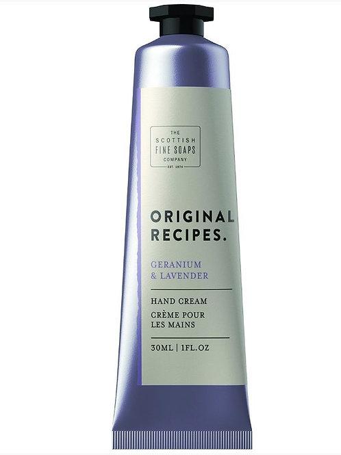 Scottish fine soap company geranium and lavendar hand cream 30ml