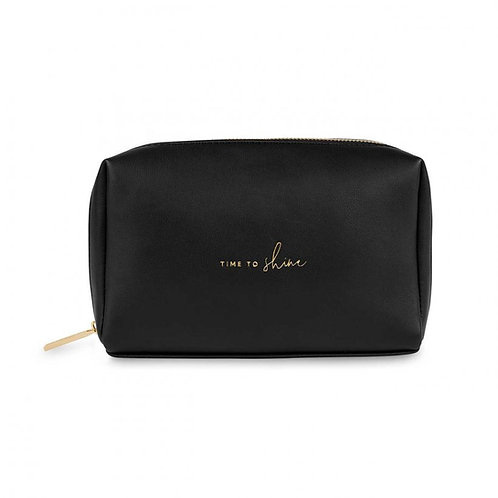 Katie Loxton 'time to shine' black and gold wash bag