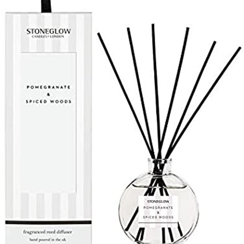 Stoneglow Modern Classic Pomegranate & Spiced Woods Diffuser, 120ml