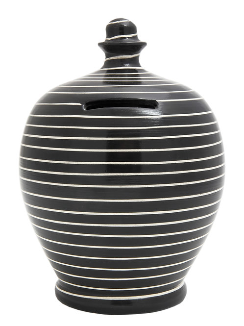 Terramundi black and white striped pot