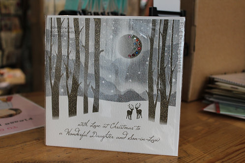 Five Dollar Shake 'Daughter and Son-in-Law' Winter Forest Christmas Card