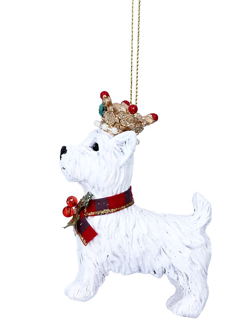 Gisela Graham Crowned Westie Christmas Decoration