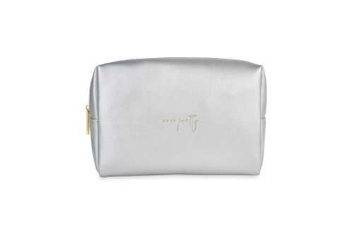 Katie Loxton 'oh so pretty' silver and gold wash bag