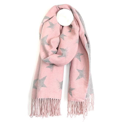 Pom reversible tasseled star scarves (2 colours)