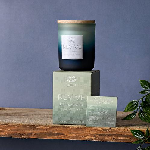 Serenity revive candle, orange, jasmine and saffron 120g