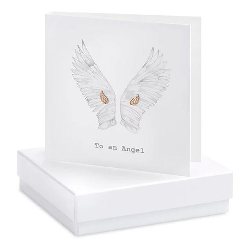 Crumble and core 'to an angel' boxed earring card