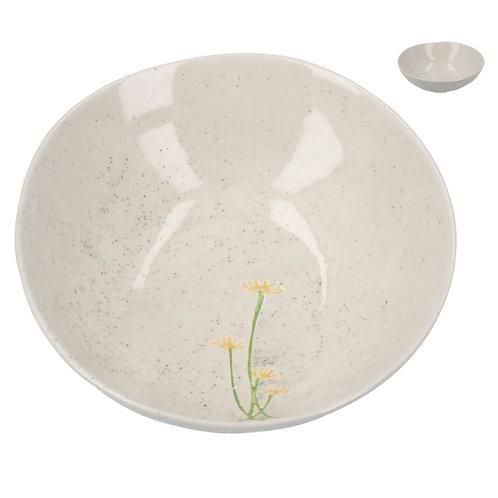 Gisela Graham ceramic yellow daisy mini bowl