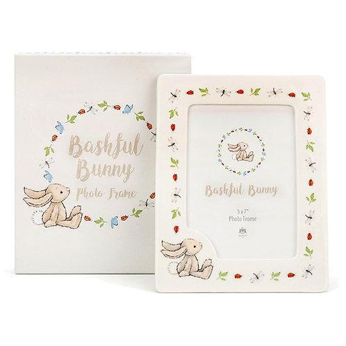 Bashful bunny photo frame