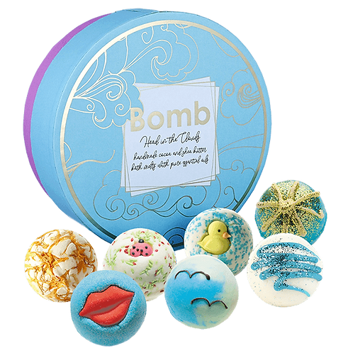 Bomb cosmetics Head in the clouds bath bomb gift set (x7)