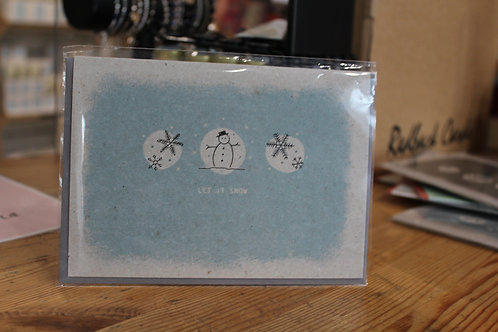 East of India 'Let It Snow' Snowmen Christmas Card