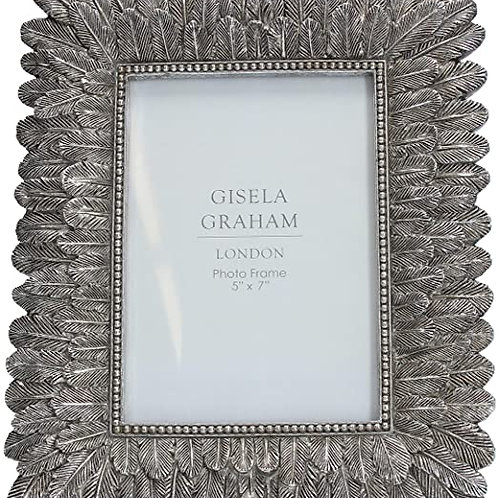 Gisela Graham Silver Feather Picture Frame - Multiple Sizes