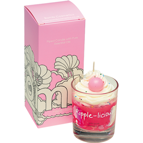 Bomb cosmetics ripple-licious piped candle