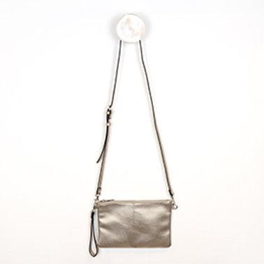 Pom bronze vegan leather shoulder bag