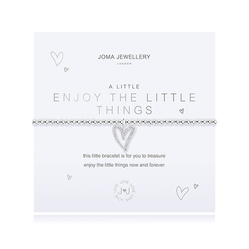 Joma Jewellery 'a little enjoy the little things' silver plated bracelet