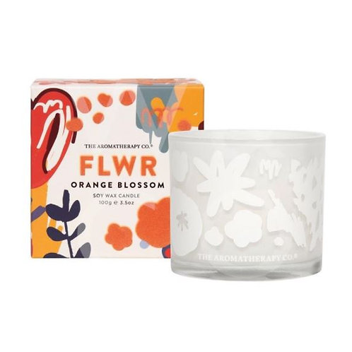 The aromatherapy co. FLWR orange blossom candle 100g